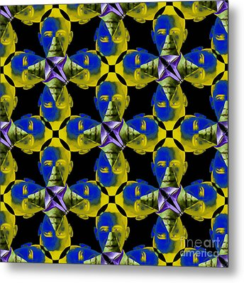 Obama Abstract 20130202p55 Metal Print by Wingsdomain Art and Photography