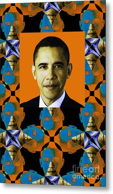 Obama Abstract Window 20130202verticalp28 Metal Print by Wingsdomain Art and Photography
