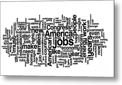 Obama State Of The Union Address - 2013 Metal Print by David Bearden