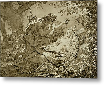 Oberon And Titania Metal Print