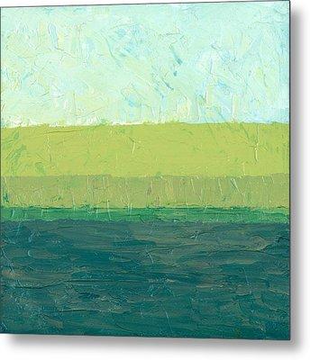 Ocean Blue And Green Metal Print by Michelle Calkins