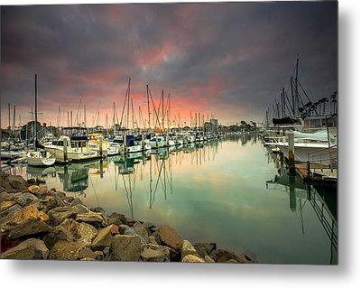 Oceanside Harbor Sunrise Metal Print by Robert  Aycock