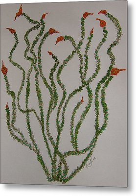 Ocotillo Dance Metal Print by Marcia Weller-Wenbert