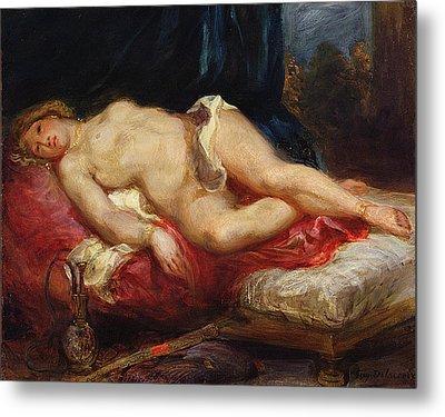 Odalisque Metal Print by Ferdinand Victor Eugene Delacroix