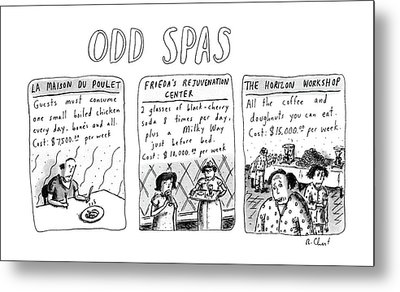 Odd Spas Metal Print by Roz Chast