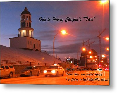 Ode To Harry Chapins Taxi Metal Print