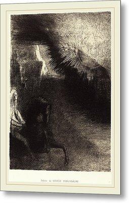 Odilon Redon French, 1840-1916, Pélerin Du Monde Metal Print by Litz Collection
