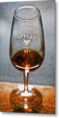 Offley Port Wine Glass Metal Print by David Letts