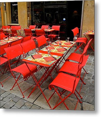 Metal Print featuring the photograph Oh Those French Cafes by Kirsten Giving