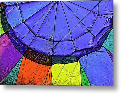 Metal Print featuring the photograph Oh What A Giant Web We Weave by Nancy Marie Ricketts