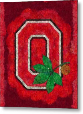 Ohio State Buckeyes On Canvas Metal Print by Dan Sproul