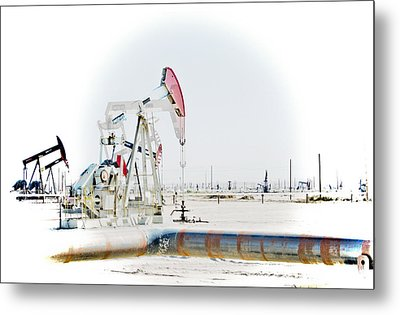 Metal Print featuring the photograph Oil Field by Joel Loftus
