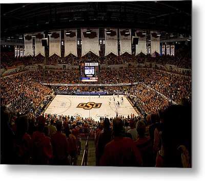 Oklahoma State Cowboys Gallagher-iba Arena Metal Print by Replay Photos