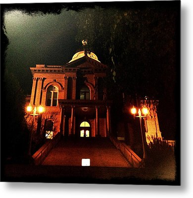 Old Auburn Courthouse Metal Print by Sherry Flaker