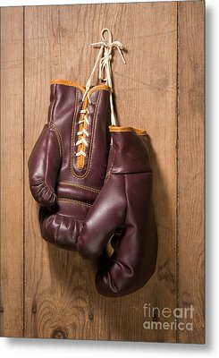 Old Boxing Gloves Metal Print
