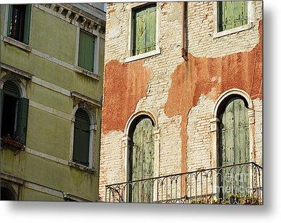 Old Buildings Facades Metal Print by Sami Sarkis