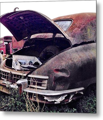 Old Car Metal Print by Julie Gebhardt