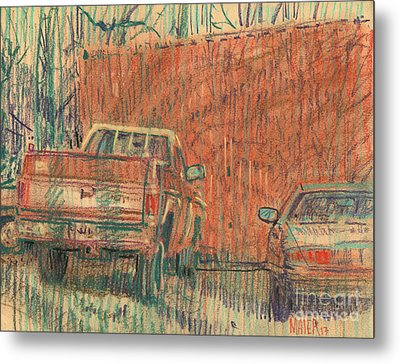 Old Chevy Metal Print by Donald Maier