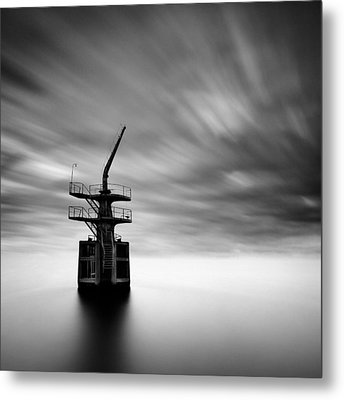 Old Crane Metal Print by Dave Bowman