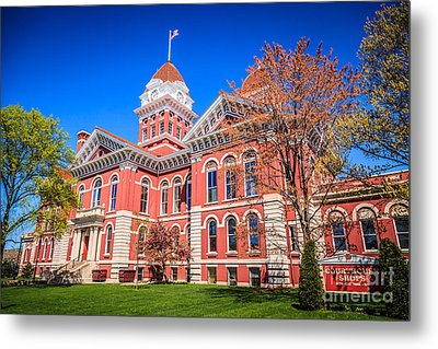 Old Crown Point Courthouse Metal Print by Paul Velgos