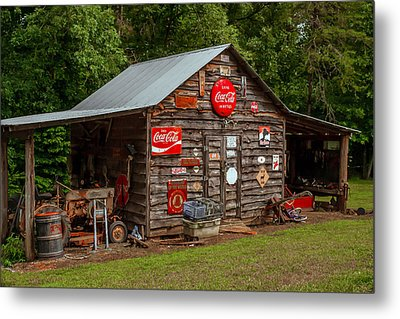 Old Farm Barn Metal Print by Marion Johnson