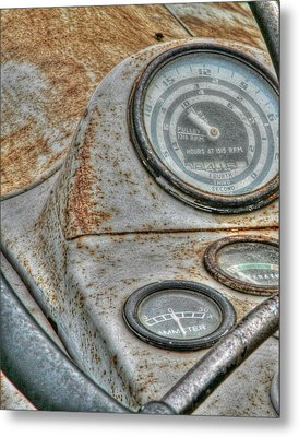 Old Farm Tractor Metal Print by Heather Allen