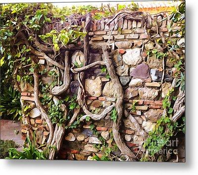 Old Garden Wall Metal Print by Lutz Baar