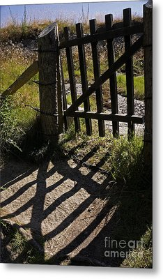 Metal Print featuring the photograph Old Gate by Inge Riis McDonald
