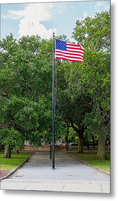 Metal Print featuring the photograph Old Glory High And Proud by Sennie Pierson