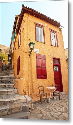 Old House In Athens Metal Print