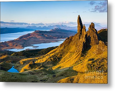 Old Man Of Storr At Sunrise Metal Print