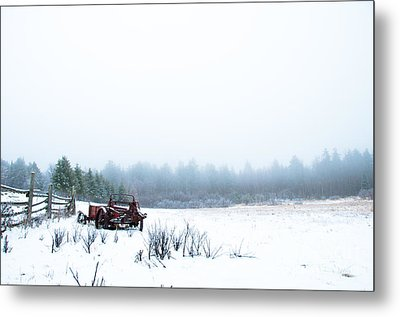 Old Manure Spreader Metal Print