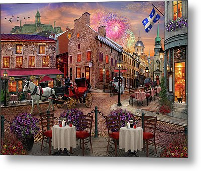 Metal Print featuring the drawing Old Montreal by David M ( Maclean )