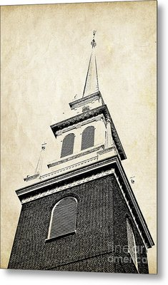 Old North Church In Boston Metal Print by Elena Elisseeva