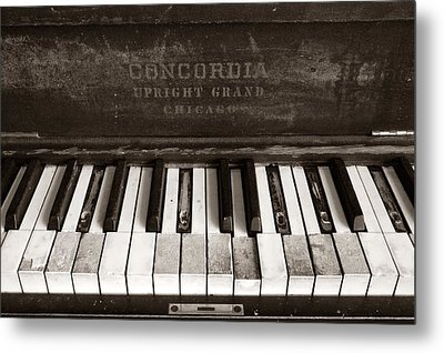 Old Piano Keys Metal Print by Jim Hughes
