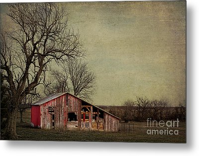 Old Red Barn Metal Print by Elena Nosyreva