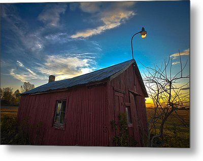 Metal Print featuring the photograph Old Red by Jason Naudi Photography