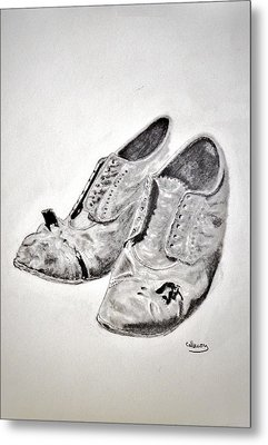 Old Shoes Metal Print by Glenn Calloway