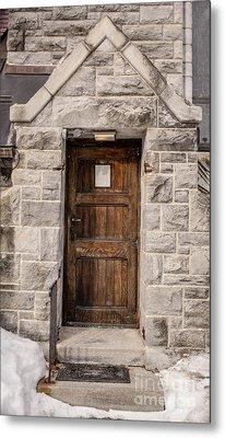 Old Stone Church Door Metal Print by Edward Fielding