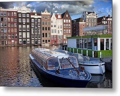 Old Town Of Amsterdam In Netherlands Metal Print by Artur Bogacki