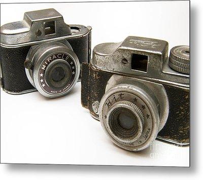 Old Toy Cameras Metal Print