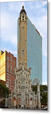 Old Water Tower Chicago Metal Print