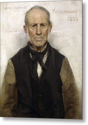 Old Willie - The Village Worthy, 1886 Metal Print by Sir James Guthrie