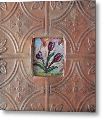 Old World Tulips Metal Print