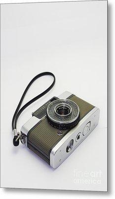 Olympus Pen-film Camera Metal Print by Tuimages