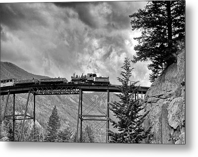 On The High Bridge Metal Print by Shelly Gunderson