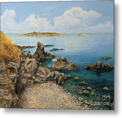 On The Rocks In The Old Part Of Sozopol Metal Print by Kiril Stanchev