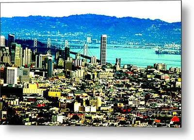 On Twin Peaks Over Looking The City By The Bay II Metal Print by Jim Fitzpatrick