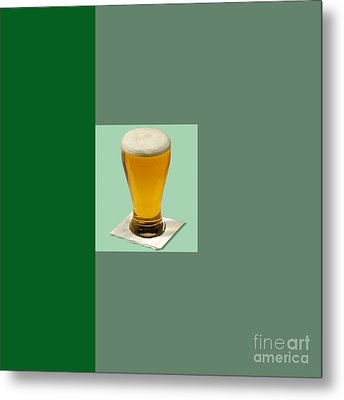 First Beer On The Wall Metal Print by Tina M Wenger