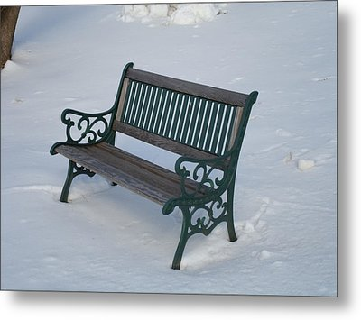 One Bench Metal Print by Jenna Mengersen